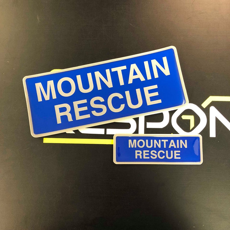 Reflective Badge - MOUNTAIN RESCUE 250mm Set