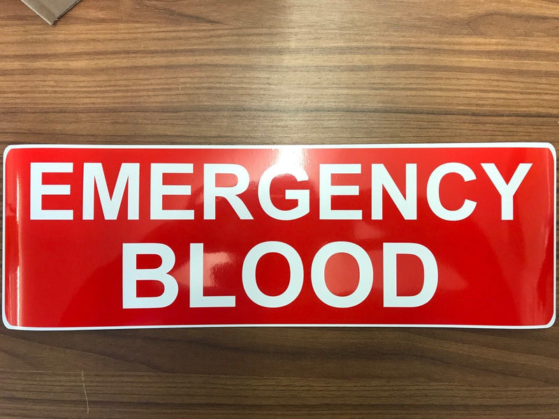 Magnet EMERGENCY BLOOD Red 450 (MG006)