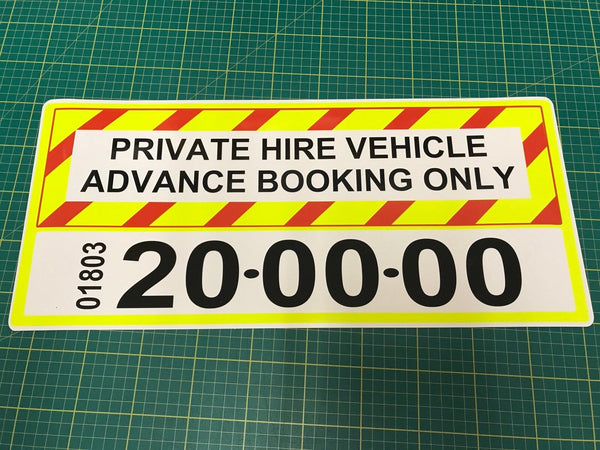 Magnet Taxi Private Hire Signage add your number (MG012)