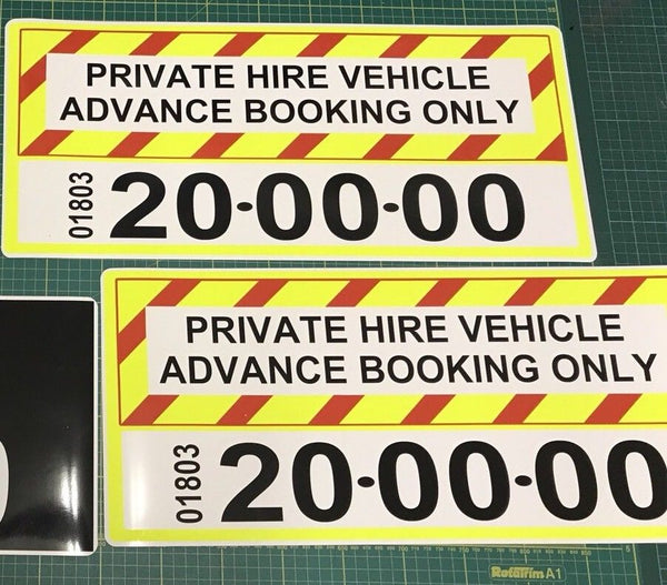 Magnet Taxi Private Hire Signage add your number x 2 (MG012)