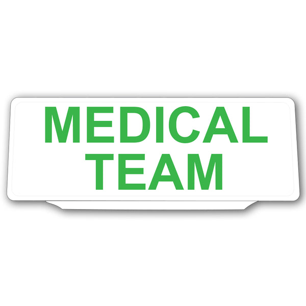 Univisor - MEDICAL TEAM - White with Green Text - UNV003
