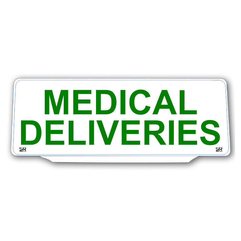 Univisor - MEDICAL DELIVERIES - White Background with Green Text - UNV323