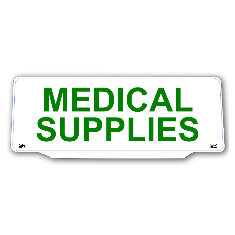Univisor - MEDICAL SUPPLIES - White Background with Green Text - UNV325