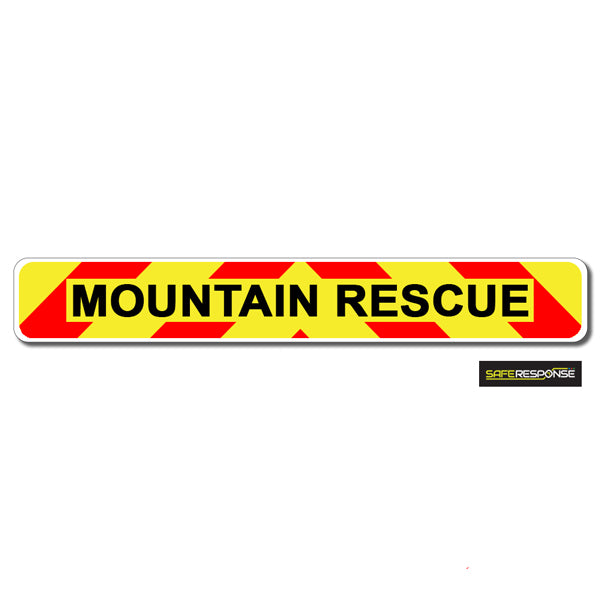 Magnet MOUNTAIN RESCUE Chevron Design Text (MG145)