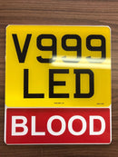 Motorcycle Number Plate Extension - BLOOD