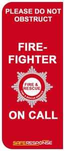 Numberplate Sticker - Firefighter - Red - ST0069