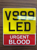Motorcycle Number Plate Extension - URGENT BLOOD