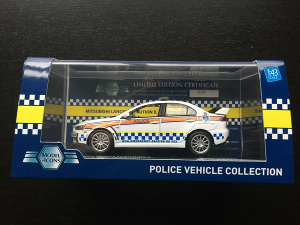 Mitsubishi Lancer Evo X - Humberside Police Road Crime Unit - Ixo 1:43 Model