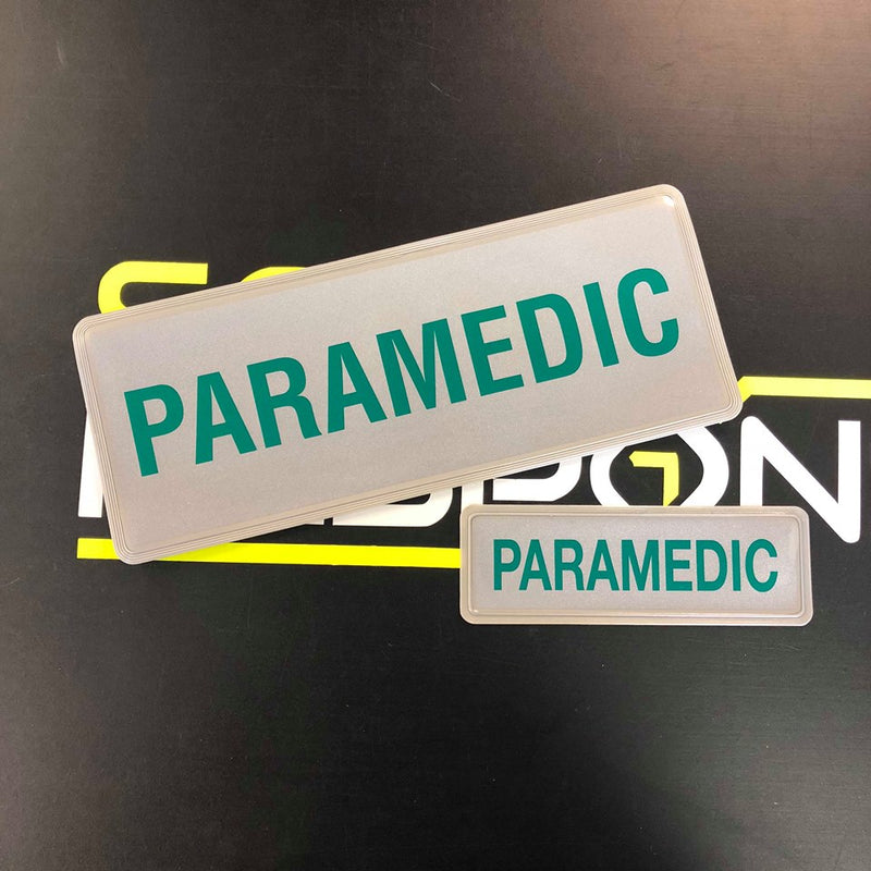 Reflective Badge - PARAMEDIC 250 Set