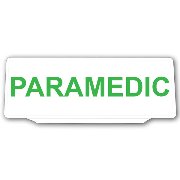 Univisor - Paramedic - White with Green Text - UNV010
