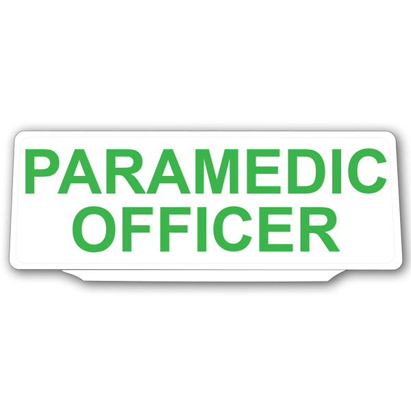 Univisor - Paramedic Officer - White with Green Text - UNV012