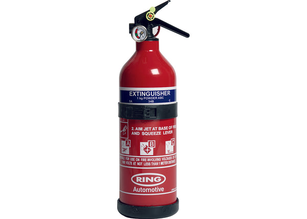 Ring Automotive - 1kg Dry Powder Fire Extinguisher with Gauge - RCT1750