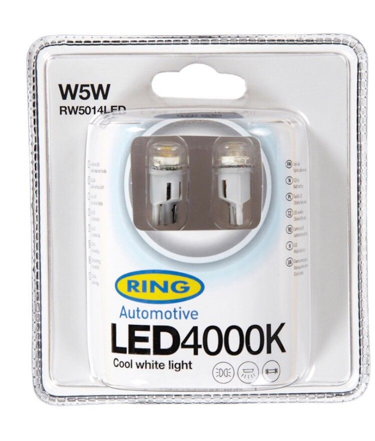 Ring Automotive - LED 501 12v 4000k Cool Blue RW5014LED