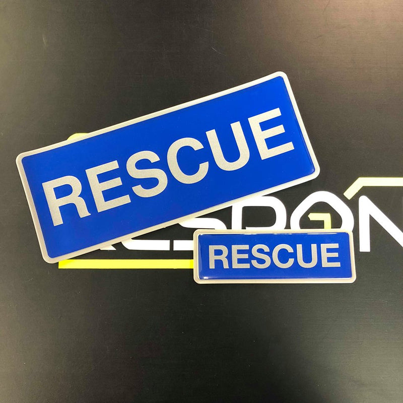 Reflective Badge - RESCUE 250mm Set