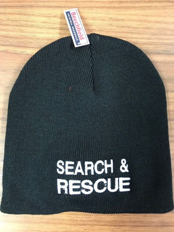 Beanie Hat Search and Rescue Black