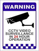 Warning CCTV Sticker 200mm - ST0048
