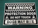 Protection Dogs Warning Yellow Sticker - ST0056