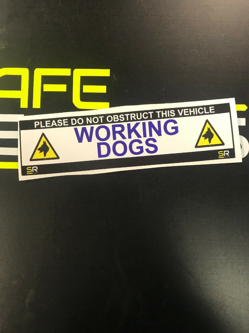 245mm Sticker - Working Dogs with logo - ST24513