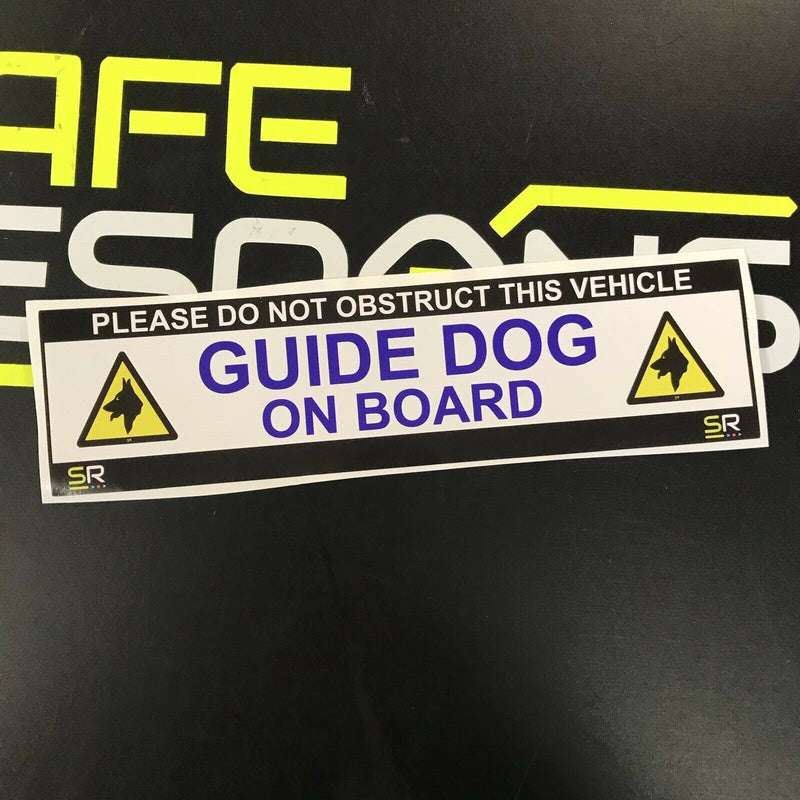 245mm Sticker - Guide Dog on Board with Logo - ST24521