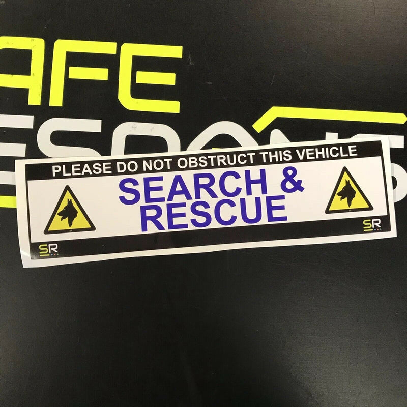 245mm Sticker - Search and Rescue with Dog Logo - ST24522