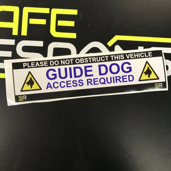 245mm Sticker - Guide Dog  Access Required with Logo - ST24524