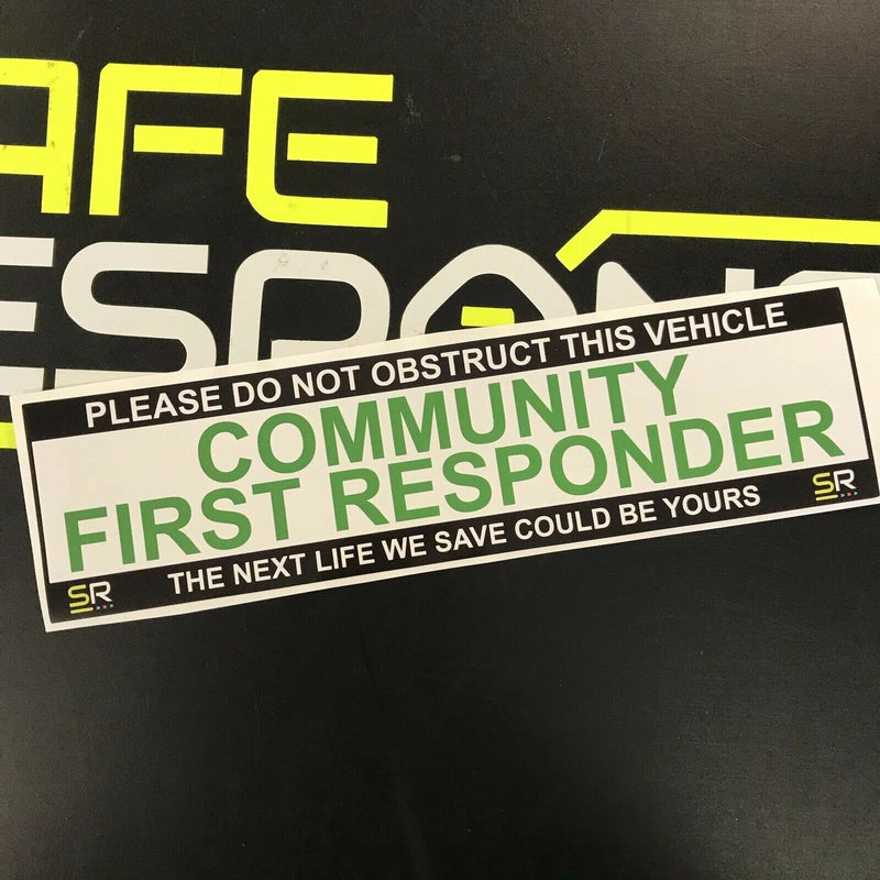 245mm Sticker - Community First Responder on call - ST24526
