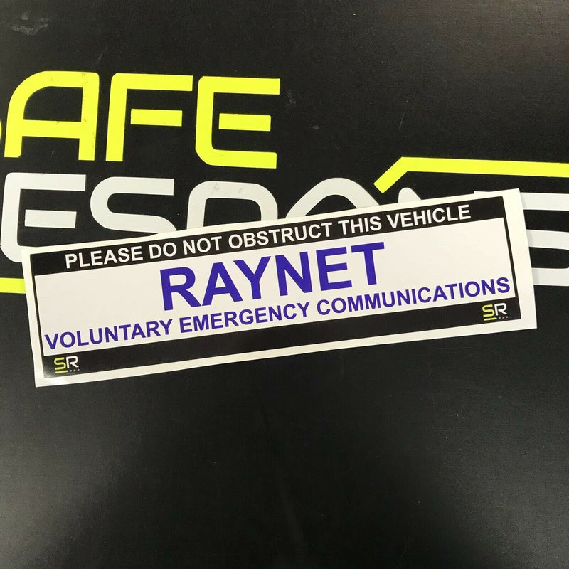 245mm Sticker - RAYNET with Tag Line - ST24530