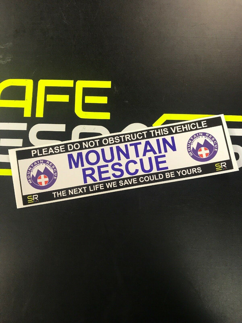 245mm Sticker - Mountain Rescue with Logo - ST24532