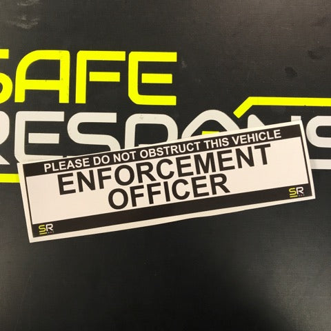 245mm Sticker - Enforcement Officer - ST24538