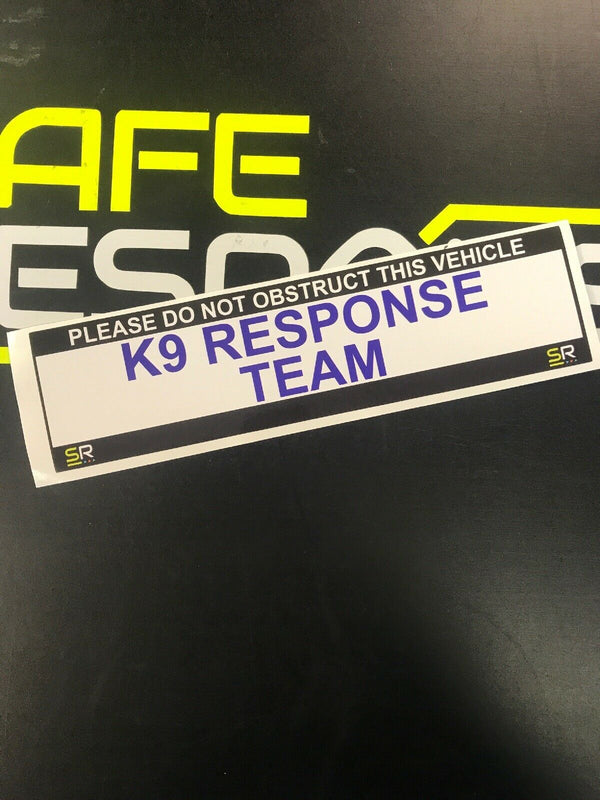 245mm Sticker - K9 Response Team - ST24551