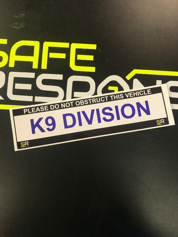 245mm Sticker - K9 Division - ST24556