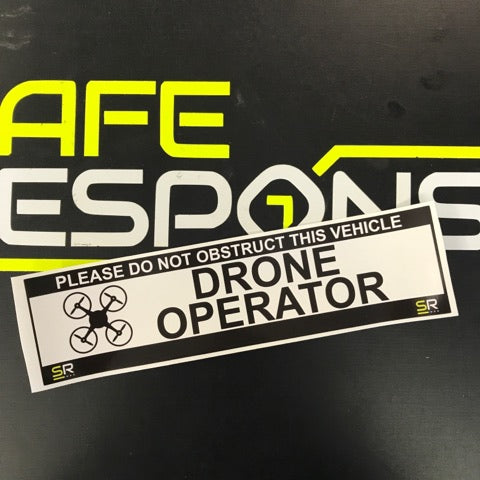 245mm Sticker - Drone Operator with logo - ST24560