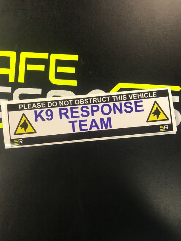 245mm Sticker - K9 Response Team with logo - ST24561