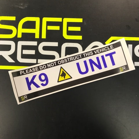 245mm Sticker - K9 Unit with 1 Logo Centralised - ST24565