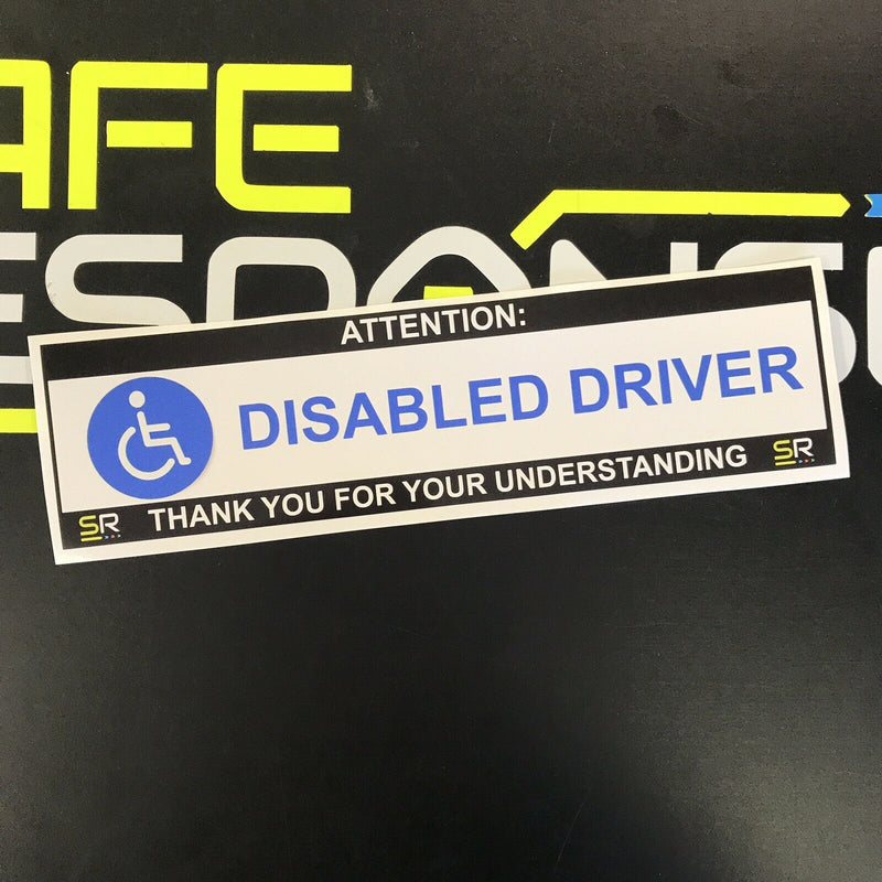245mm Sticker - Disabled Driver with Logo - ST24570