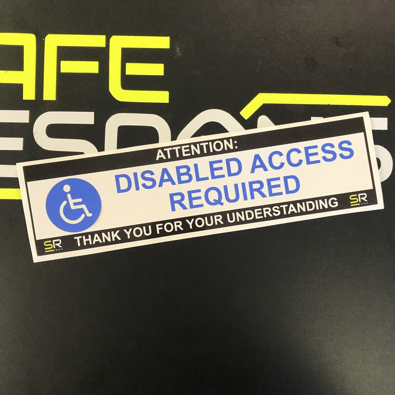 245mm Sticker - Disabled Access Required with logo - ST24571