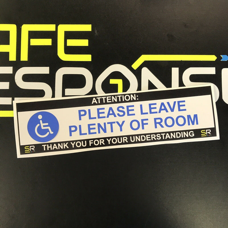 245mm Sticker - Please Leave Plenty of Room with Logo - ST24572