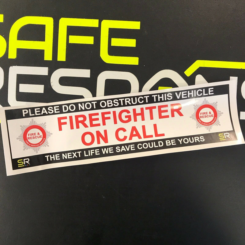 245mm Sticker - FIRE with Crests - ST24578