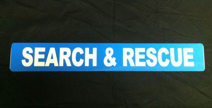 Magnet Search and Rescue  with Blue Background (MG066)