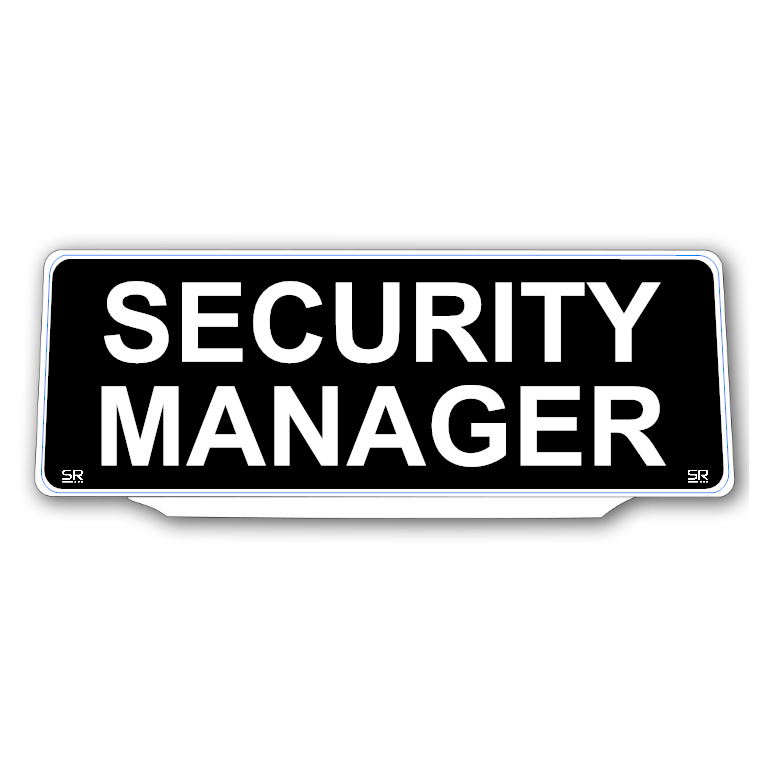 Univisor - SECURITY MANAGER - Black Background White Text - UNV240
