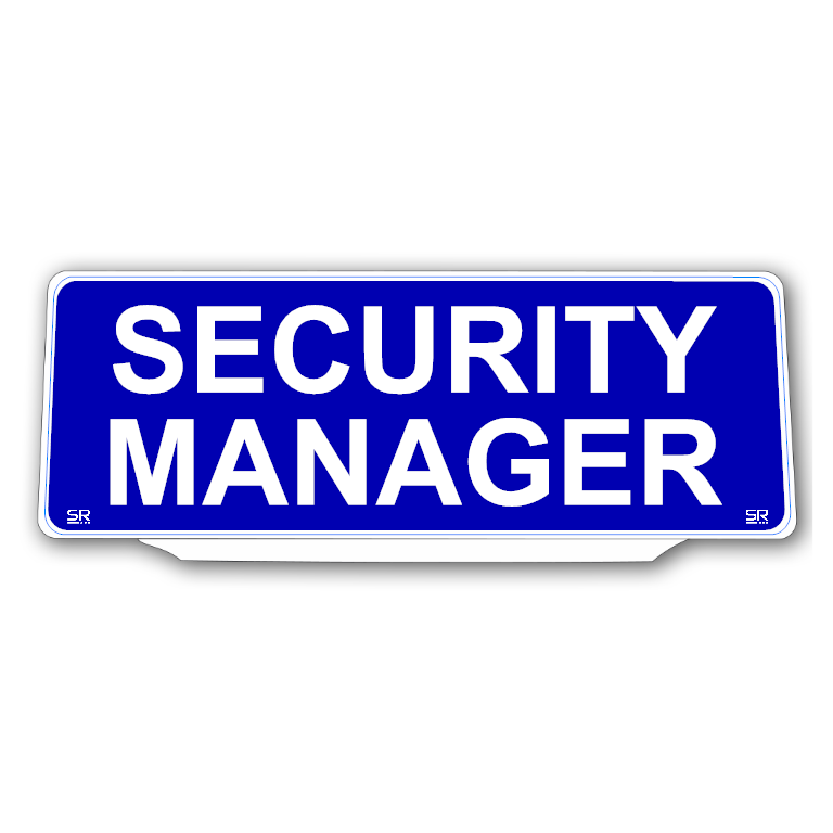 Univisor - SECURITY MANAGER - Blue Background White Text - UNV241