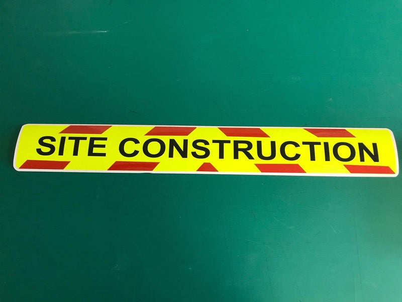 Magnetic Sign - SITE CONSTRUCTION - 610mm - Dayglo/Standard Red MG102