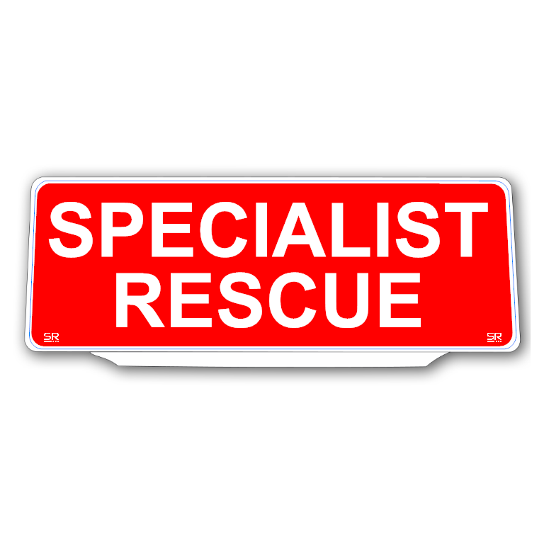 Univisor - SPECIALIST RESCUE - Red Background White Text - UNV273
