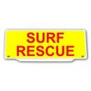 Univisor - SURF RESCUE - Yellow Background Red Text - UNV229