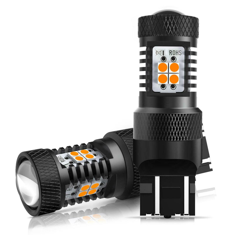 580 T20 Amber LED Light Bulb - Auxito - Indicator Light - Pair