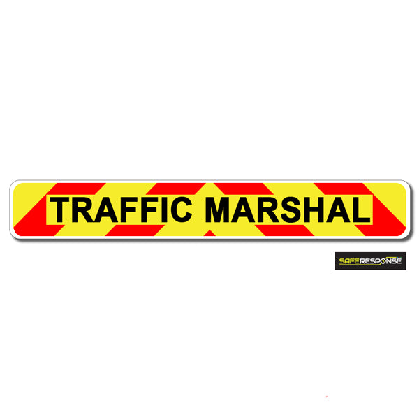 Magnet TRAFFIC MARSHAL Chevron Design Text (MG127)
