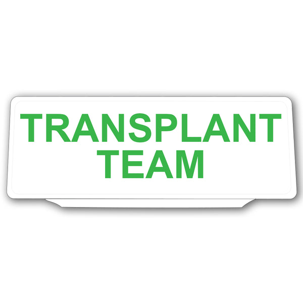 Univisor - Transplant Team - White with Green Text - UNV020