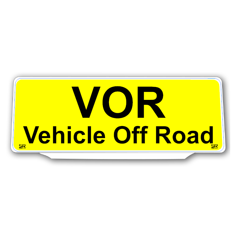 Univisor - VOR Vehicle Off Road - Yellow Background Black Text - UNV228