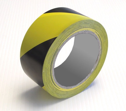 Floor Hazard Tape Black / Yellow 33m