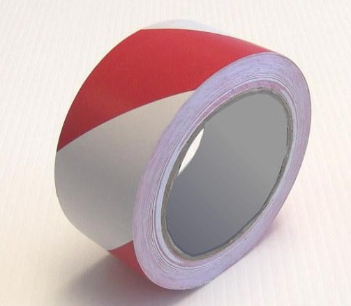 Floor Hazard Tape White / Red 33m 🚧out of stock🚧